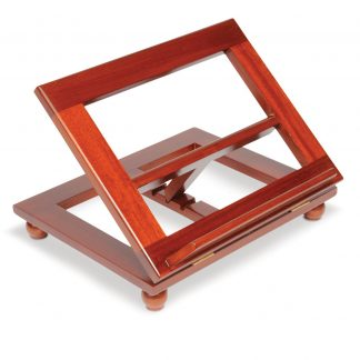 Adjustable Stained Wooden Bible Stand-0