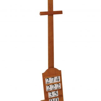 Hymn Board with Oak Stand (Hymn numbers included)-0
