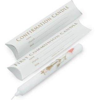 First Communion / Confirmation Candles (pillow pack) - pack of 20 Code BC04P-0
